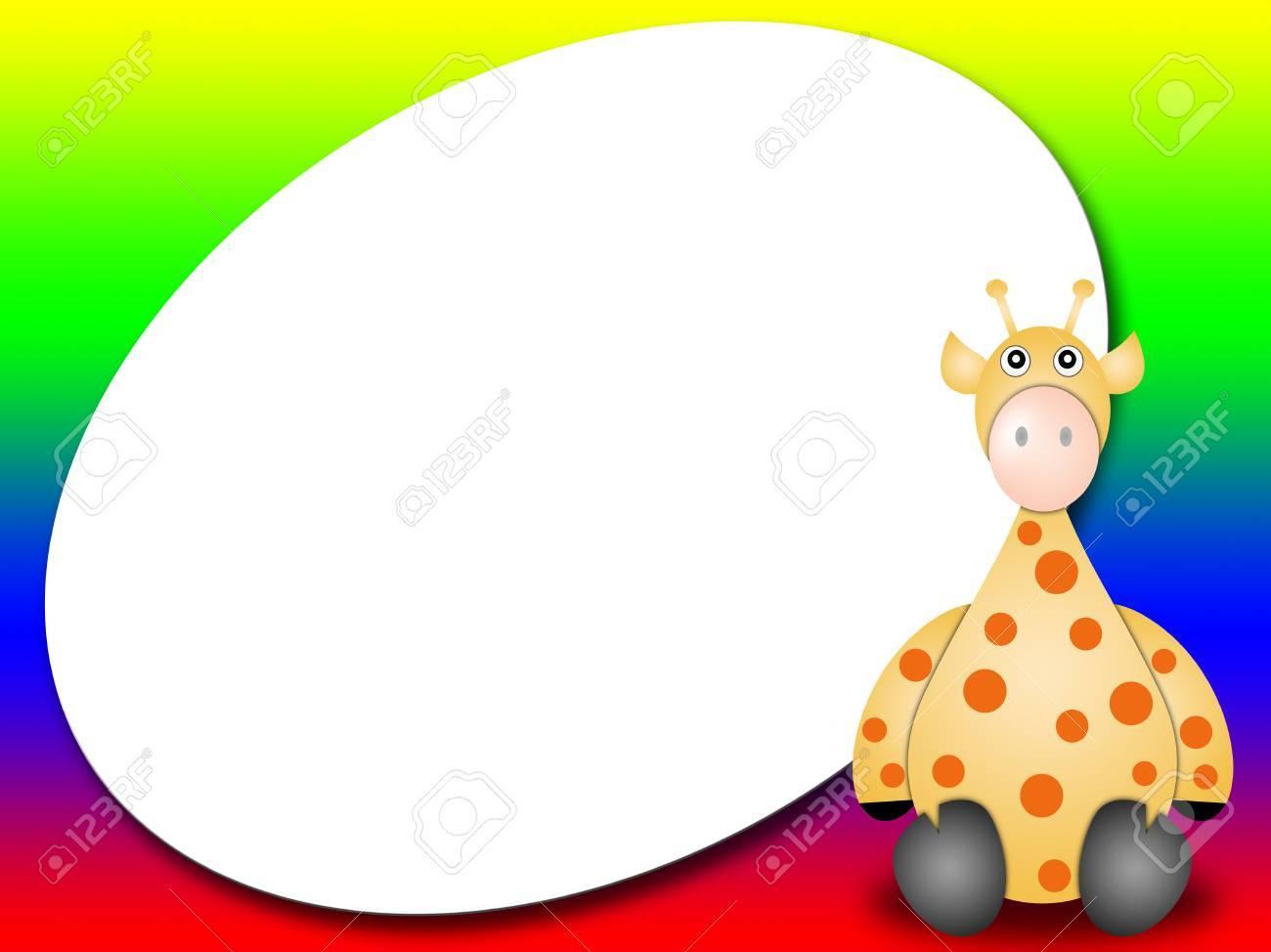 Rahmen Oder Das Gästebuch Mit Giraffe - Photo Frame Oder Eine ...