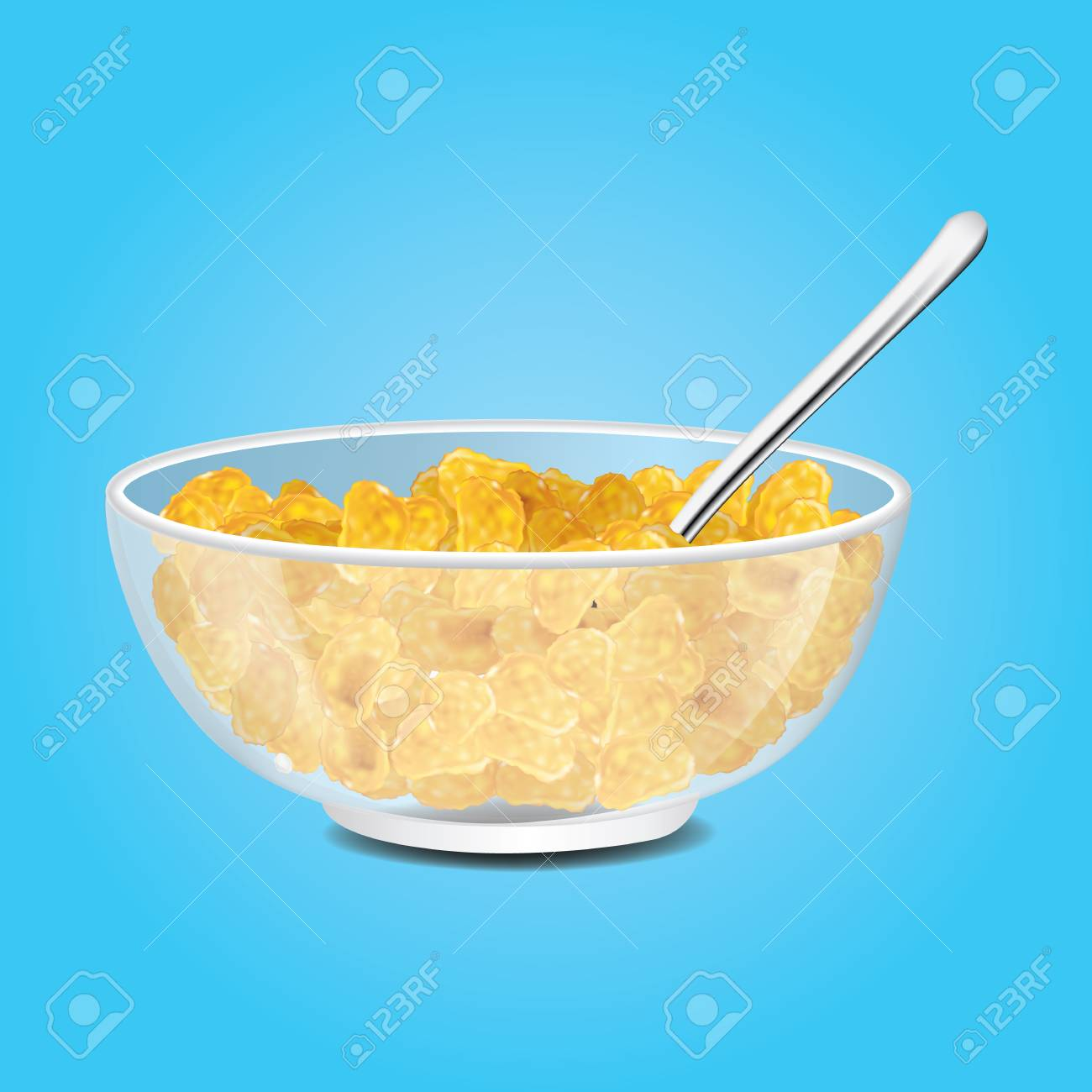 Breakfast Cereal Eating Corn Flakes Clip Art - Royaltyfree - Bowl Cliparts  Transparent PNG