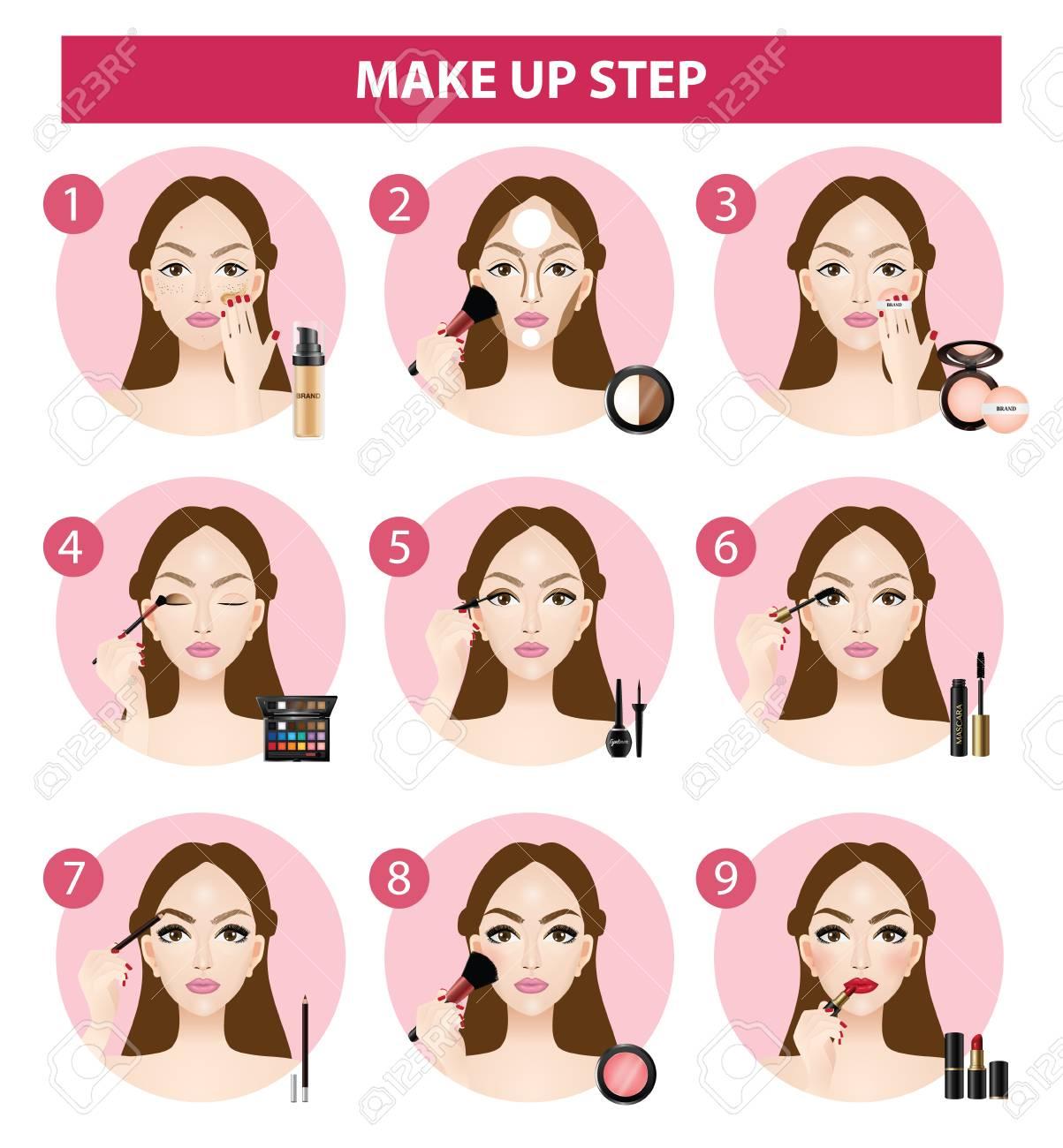 how to make up steps vector illustration - 100432193