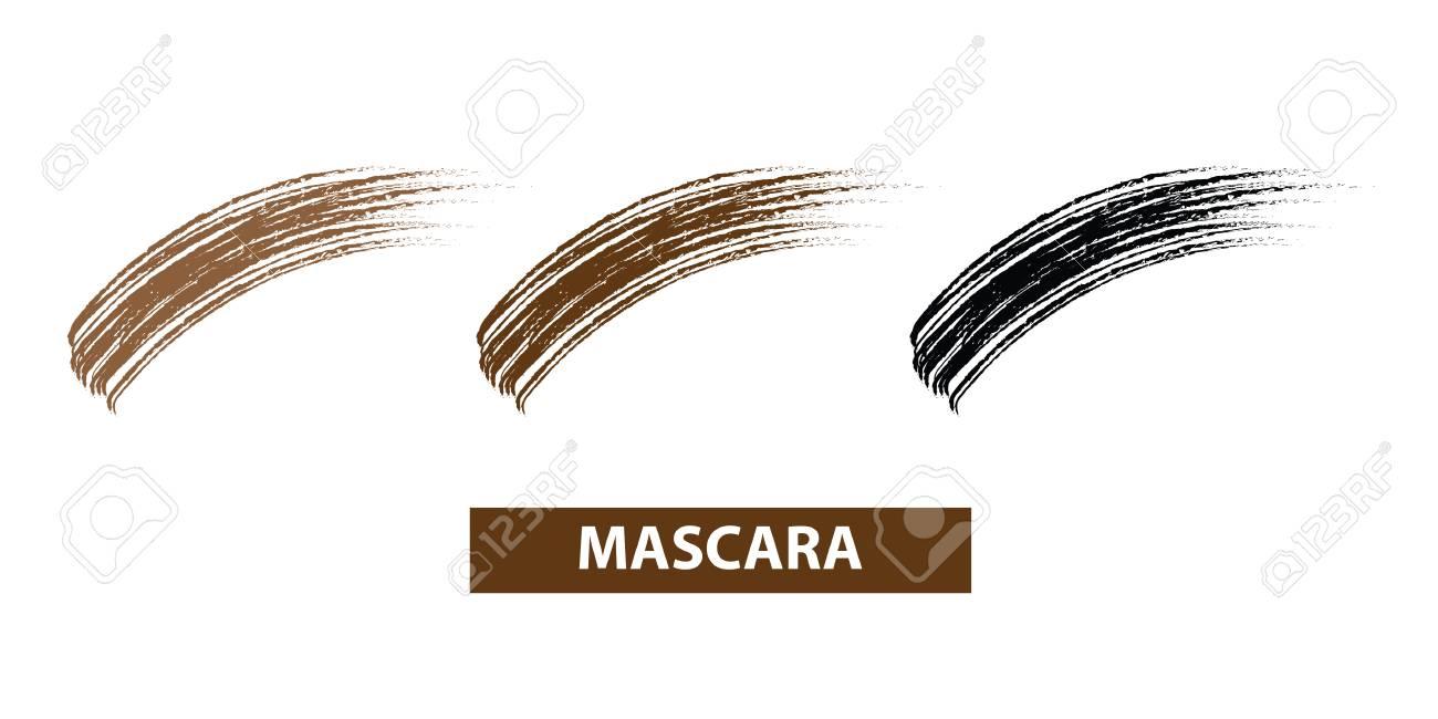 Mascara brush swatches vector illustration - 100999824