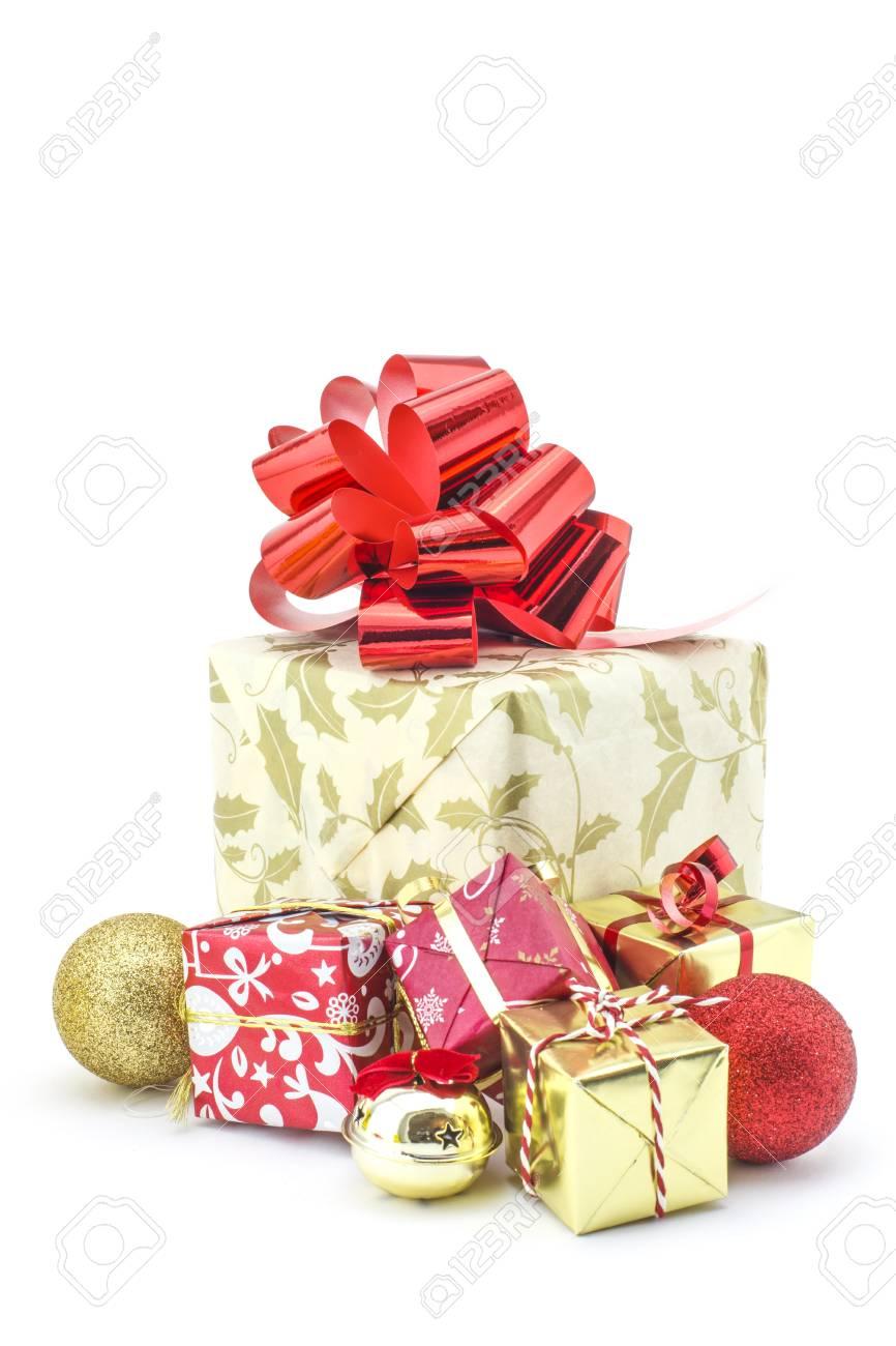 Große Geschenke Und Geschenke Für Weihnachten Lizenzfreie Fotos ...
