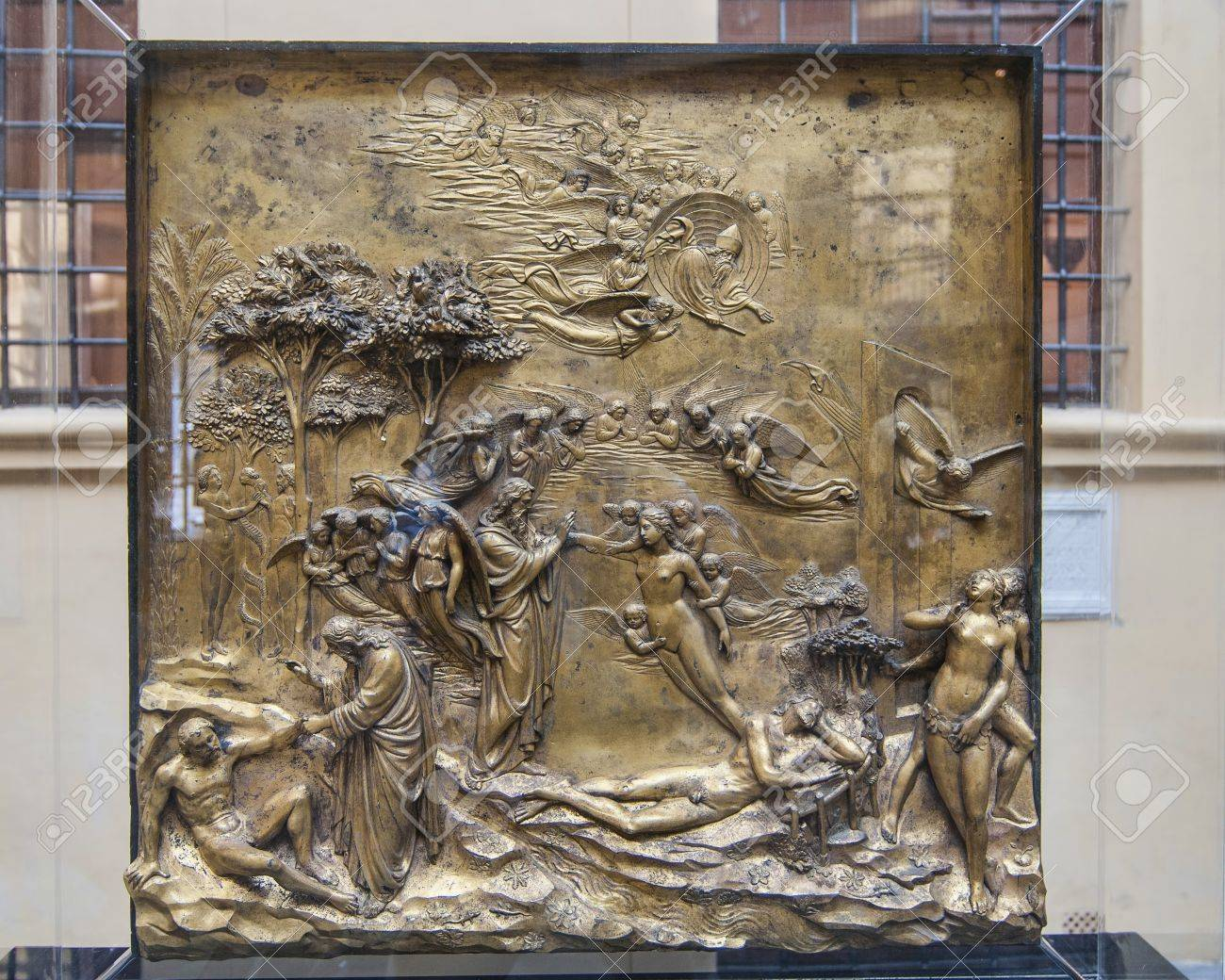 Ghiberti Gold Panel 2 from the baptistry door in Florence Stock Photo - 15381958 & Ghiberti Gold Panel 2 From The Baptistry Door In Florence Stock ...