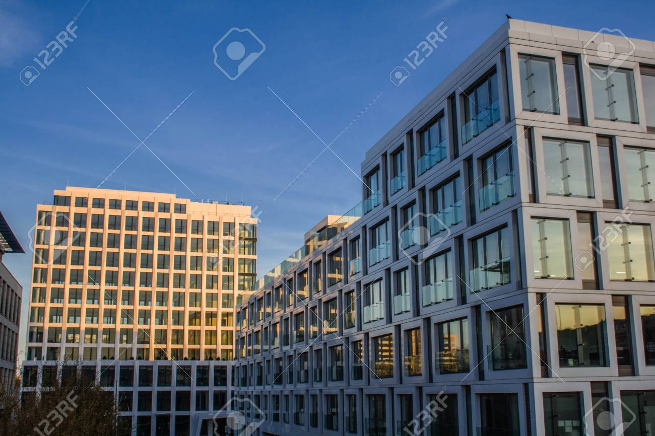 office facades. Glass Facades Of Office Buildings Stock Photo - 81539483