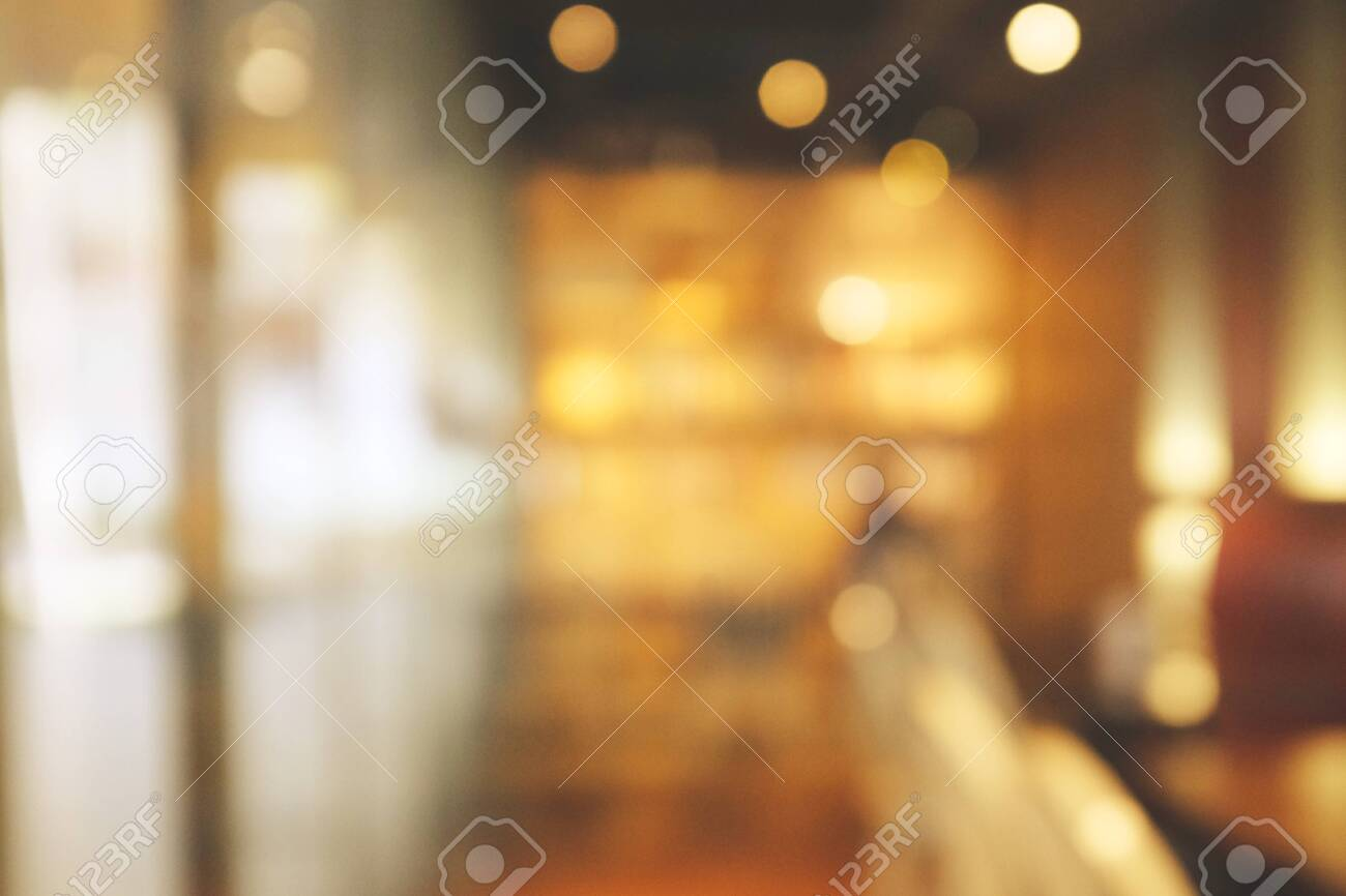 Background blurred Modern cafe, cafe blurred background with bokeh - 141050582