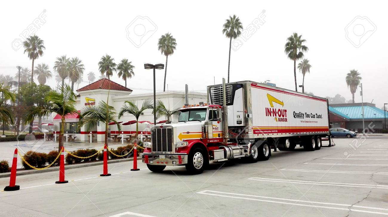 Hollywood Los Angeles California September 9 2018 In N Out