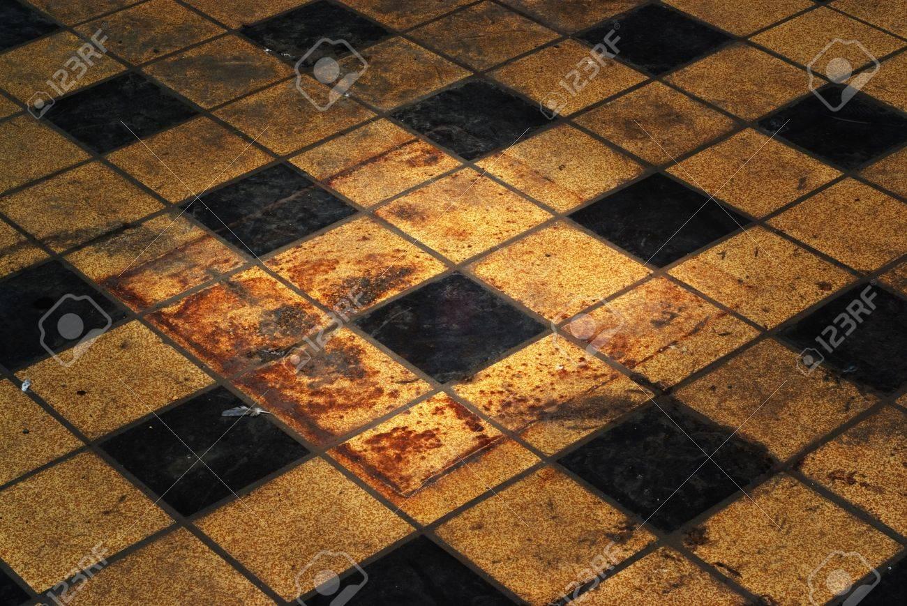 Immagini stock grungy vintage retrò pavimento con piastrelle le