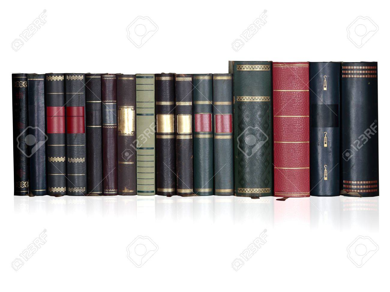 vintage books in a row Stock Photo - 6505018