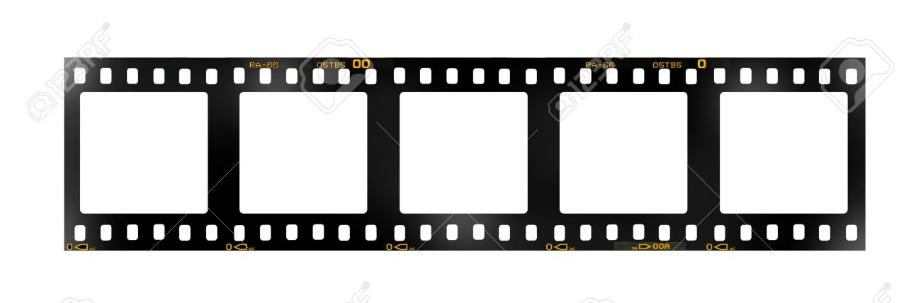 35 Mm Filmstrip, 5 Square Blank Picture Frames, Stock Photo, Picture ...