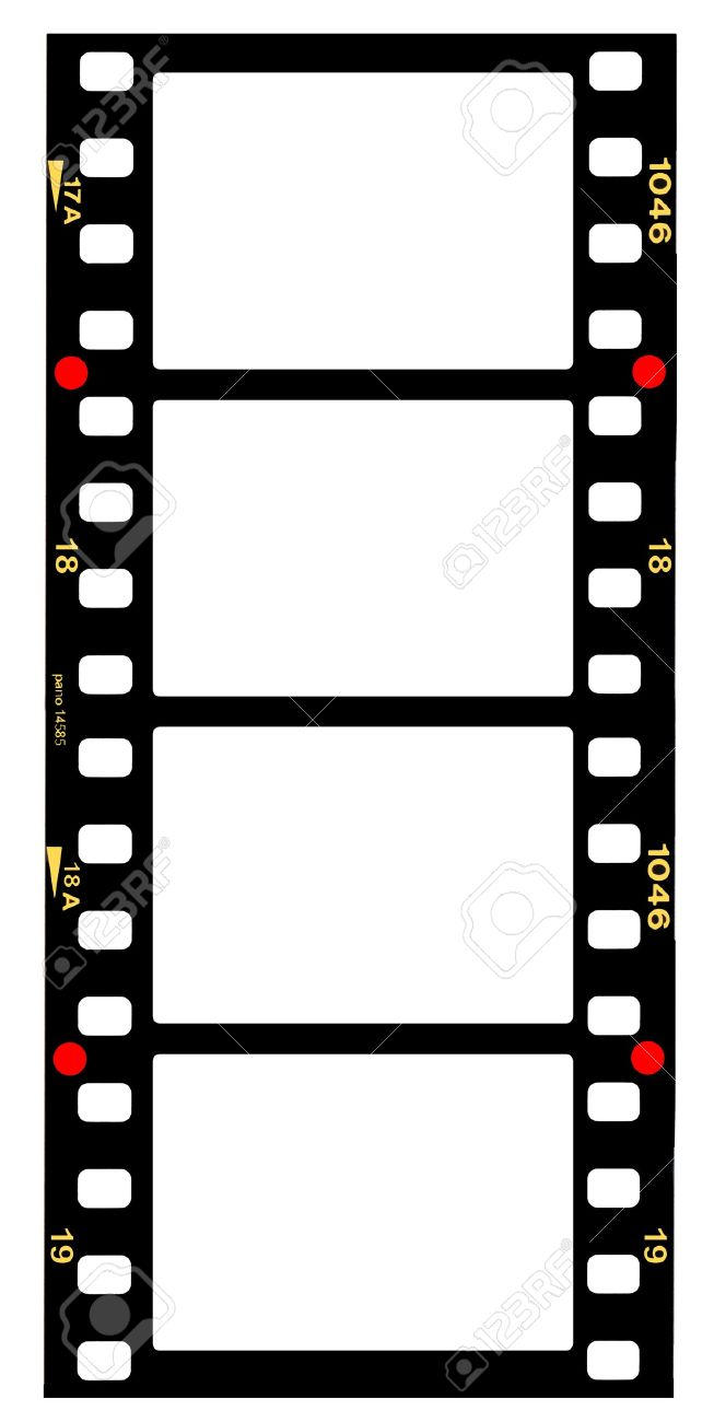 35mm Format Movie Filmstrip, Picture Frames,standard Film Picture ...