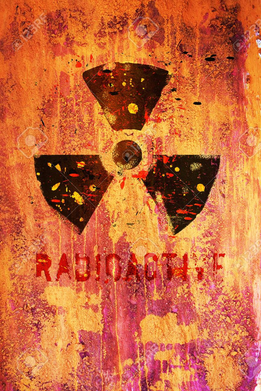 nuclear warning, grungy radiation sign Stock Photo - 11233774