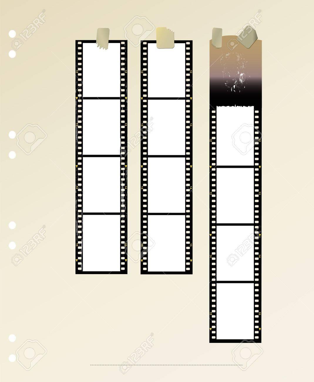 Tiras De Película, El Formato Estándar De Fotogramas En Blanco ...