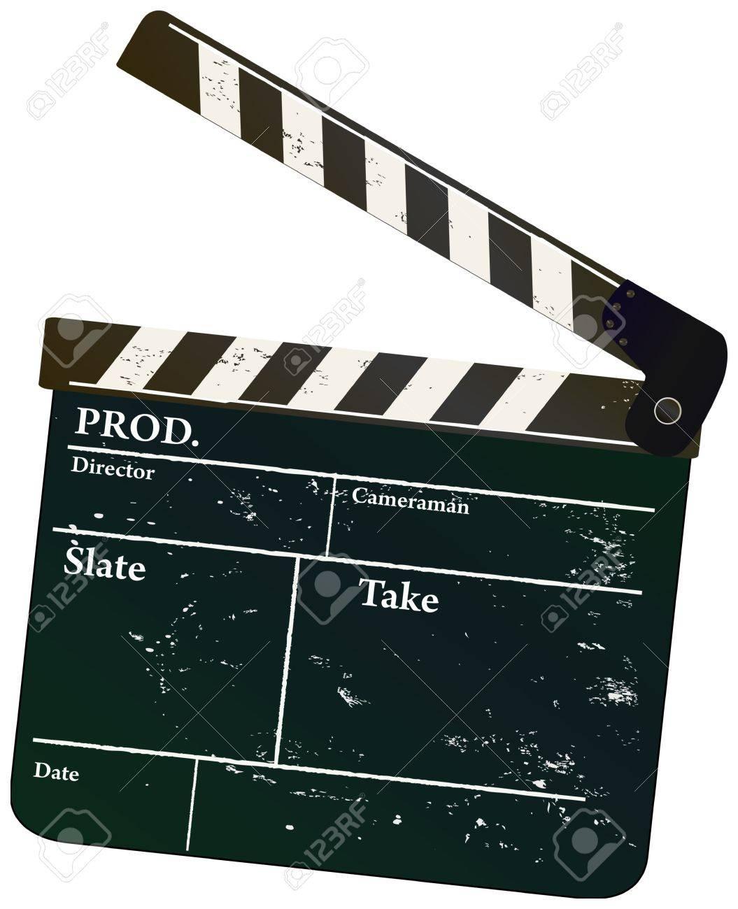 Vintage movie clapper, vector illustration,free copy space Stock Vector - 14308704