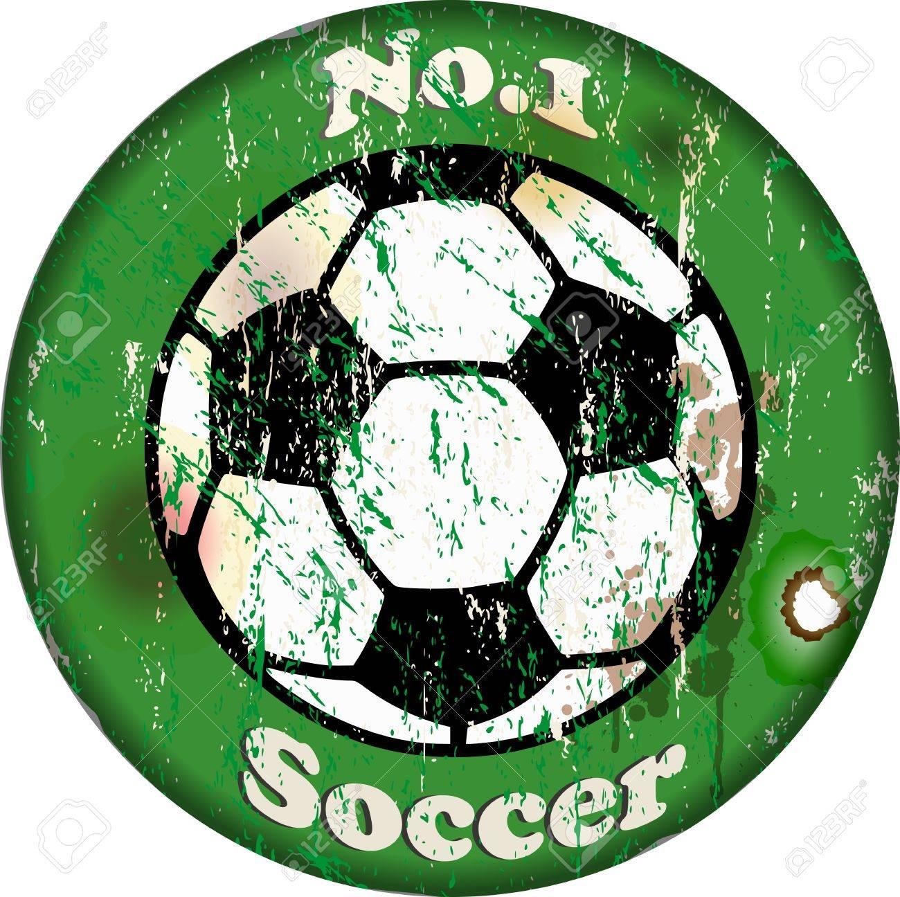 vintage soccer sign Stock Vector - 15595766