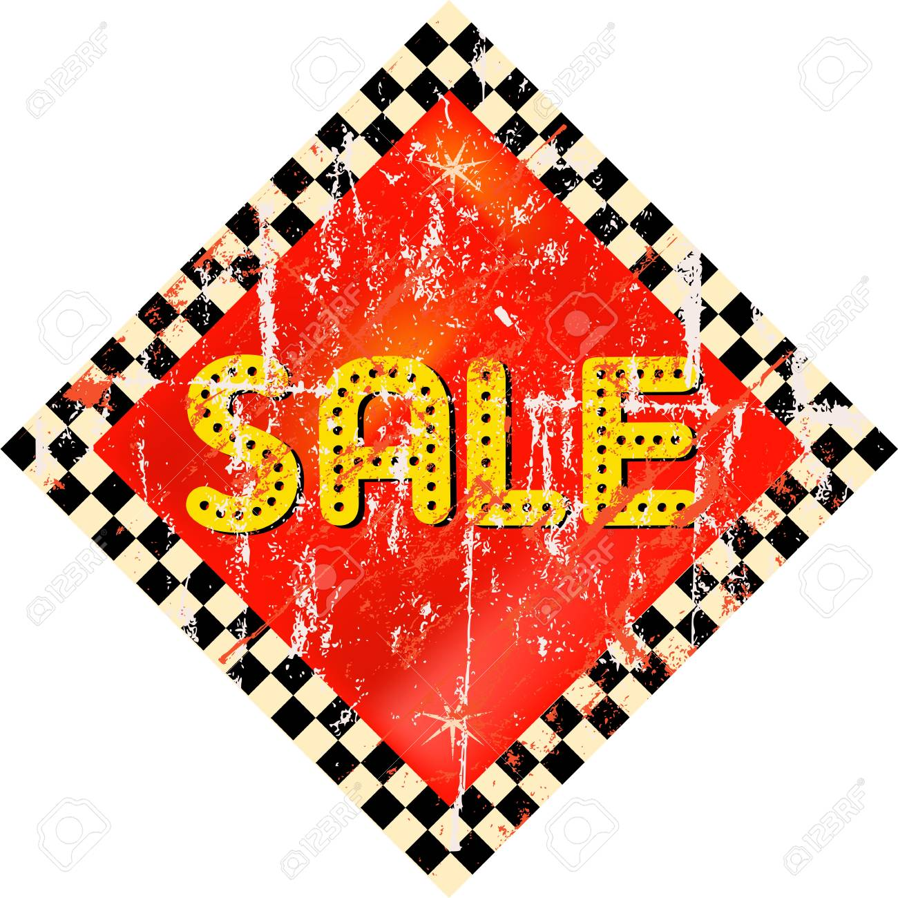 vintage sale sign, illustration Stock Vector - 17092168