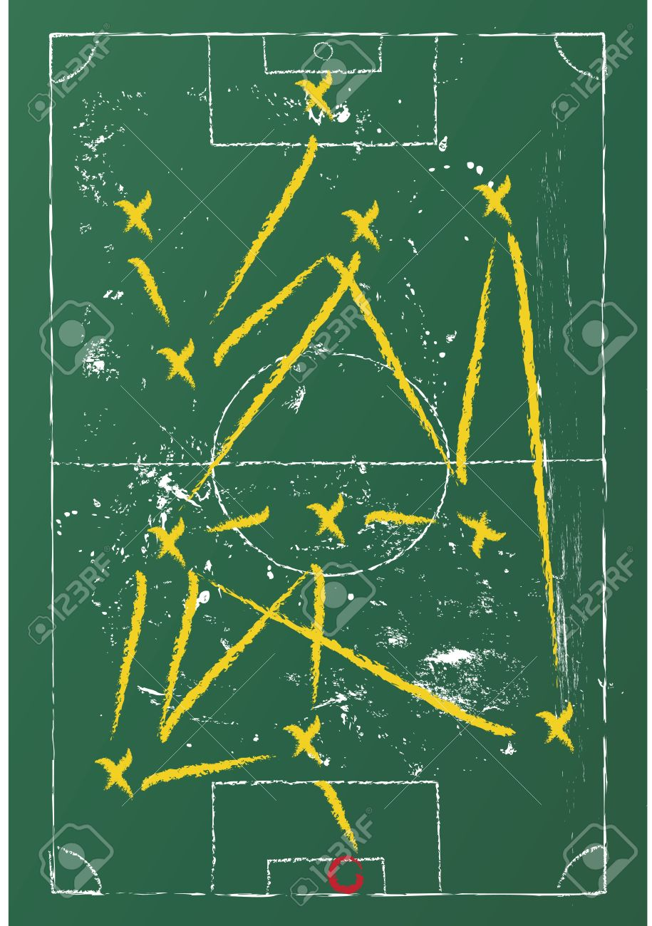Soccer tactic diagram on a chalkboard royalty free cliparts vetores imagens soccer tactic diagram on a chalkboard ccuart Gallery