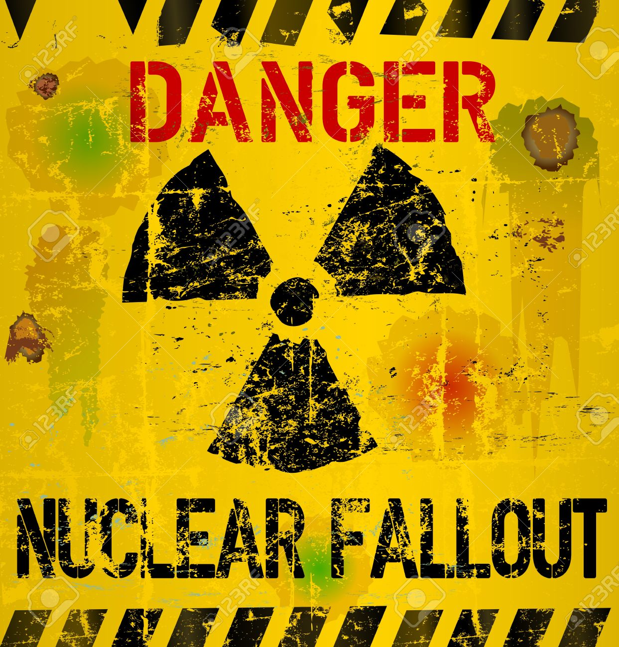 nuclear fallout warning sign Stock Photo - 18933979