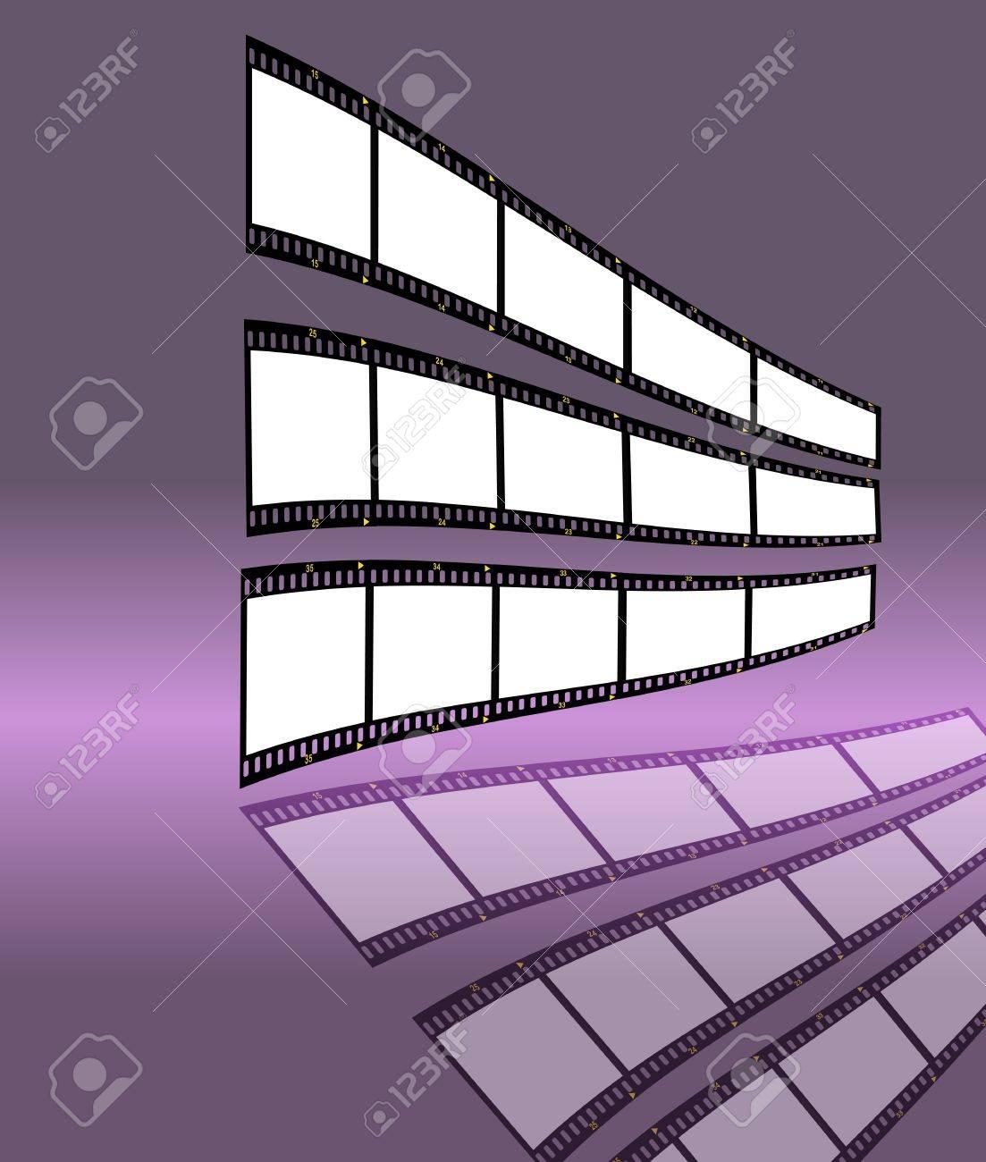 Filmstreifen Mit Leeren Rahmen, Den Freien Speicherplatz Für Ihre ...
