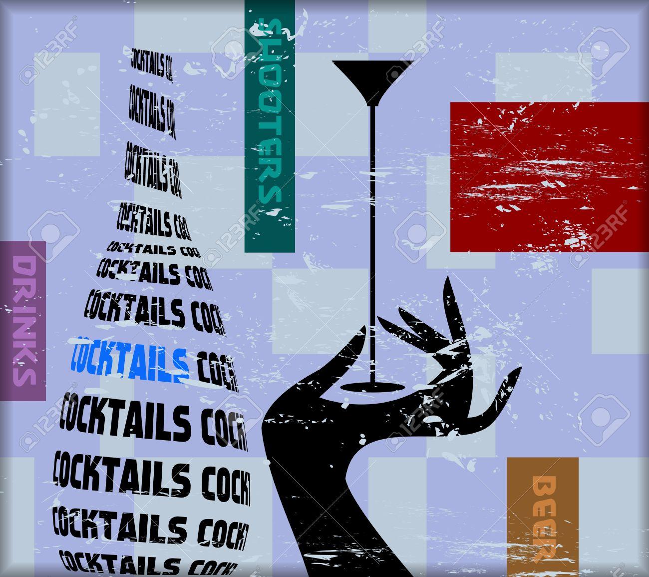 vintage cocktail sign,for bar, pub,restaurant,vector Stock Photo - 19448745
