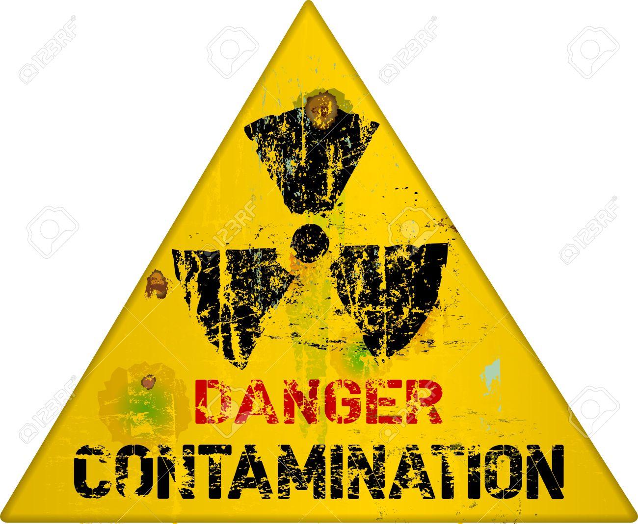 nuclear contamination warning sign, vector illustration Stock Illustration - 19448752