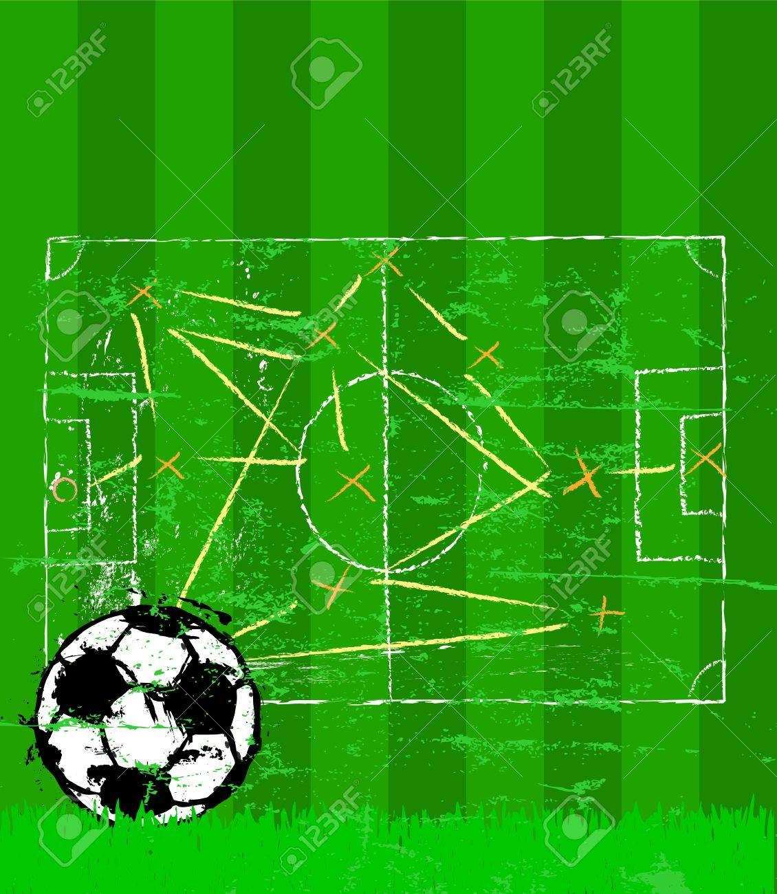 サッカー イラスト、戦術計画お...