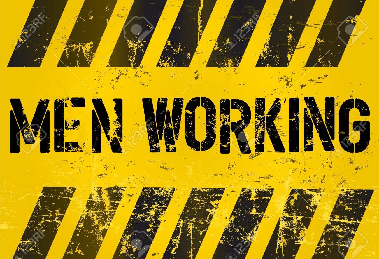 sign: men working, industrial style, vetor Stock Vector - 19798148