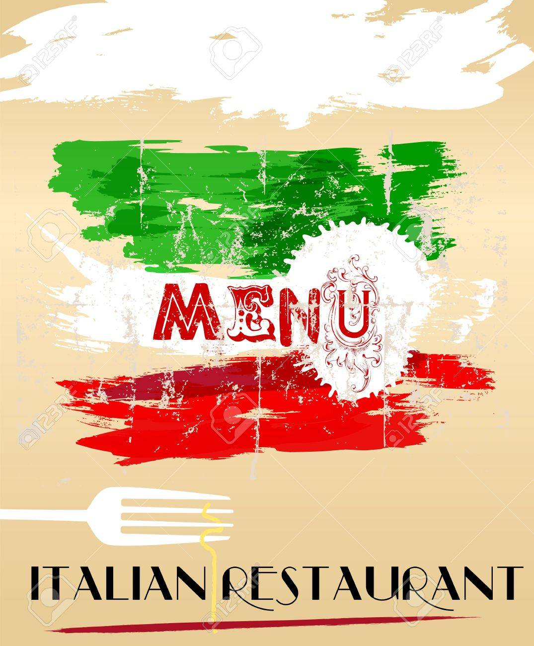 menu design for italian restaurant, free space for restaurant