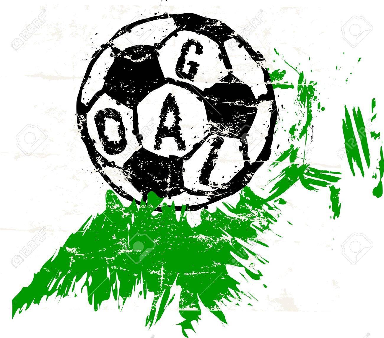 サッカー サッカー イラスト無料コピー スペースのイラスト素材ベクタ