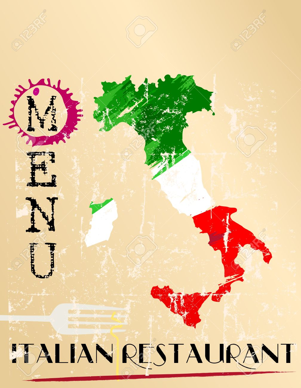 Menu Design For Italian Restaurant Free Space For Your Text Royalty Free Cliparts Vectors And Stock Illustration Image 21138147