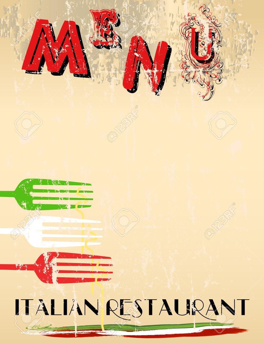 Menu For Italian Restaurant Free Copy Space Royalty Free Cliparts – Italian Menu