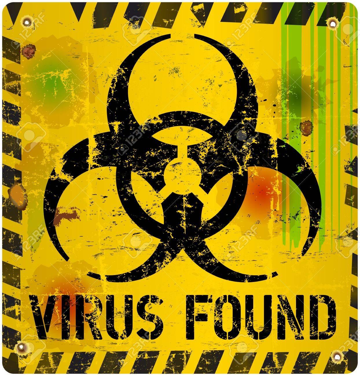 computer virus alert sign, vector illustration Stock Vector - 24733007