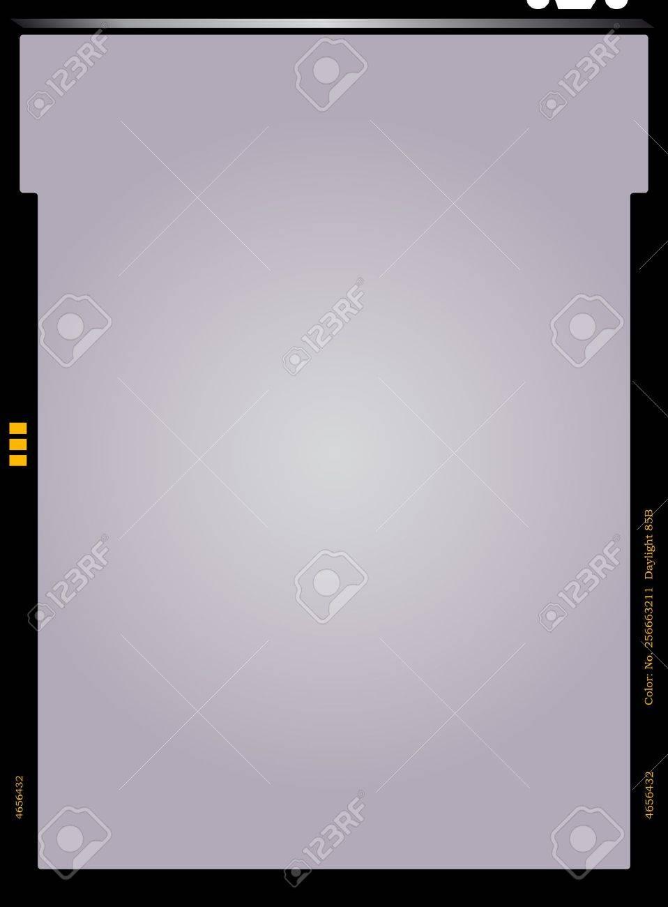 empty sheet film negative, picture frame, vector illustration - 24899818