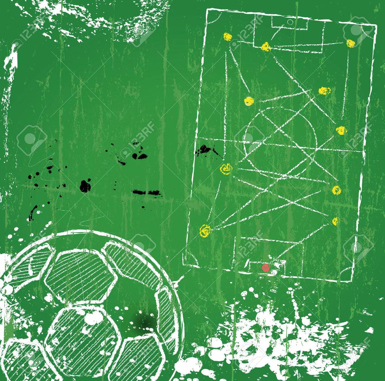Soccer / Football design template,free copy space, vector - 24960216