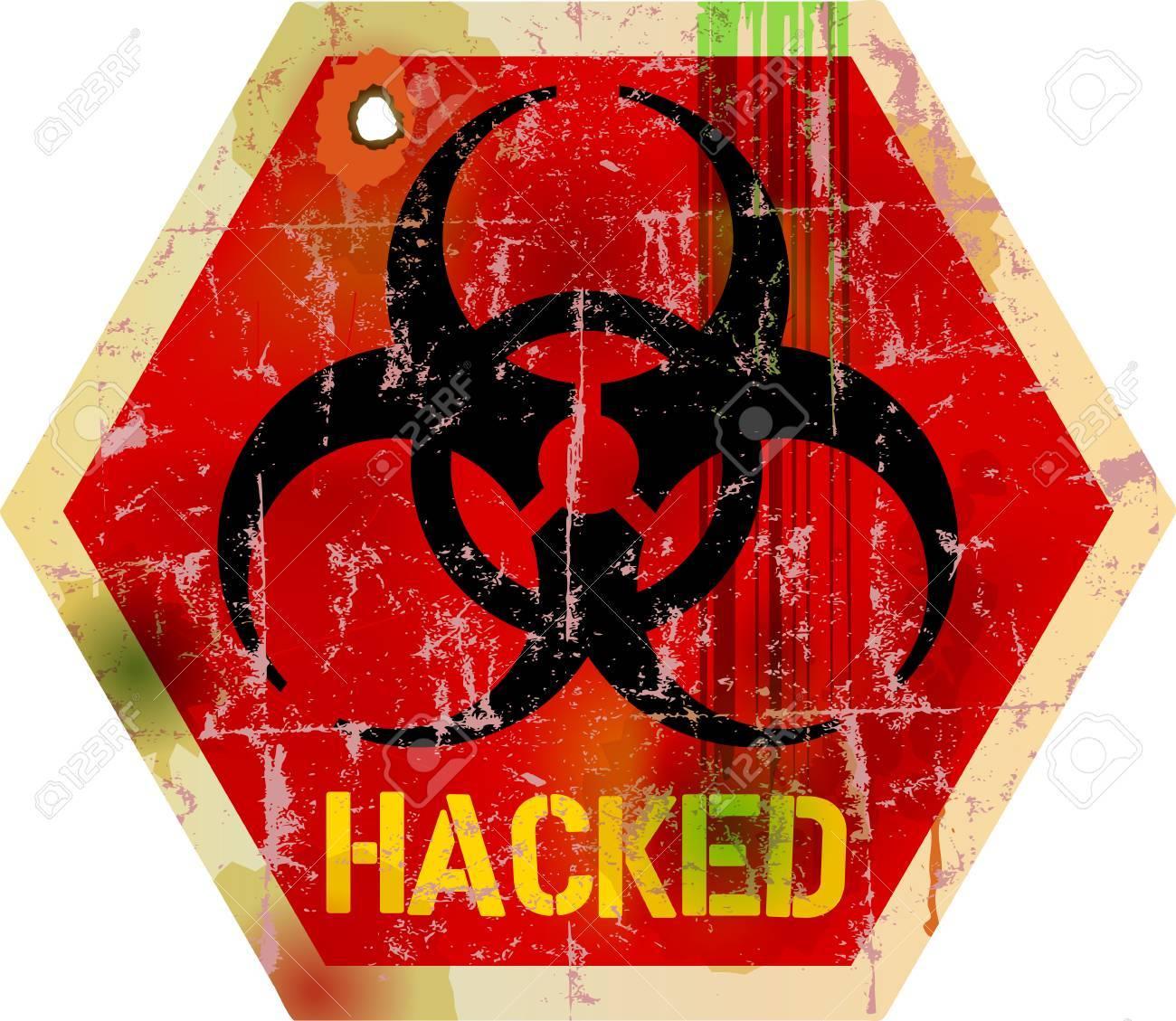 computer virus alert sign, vector illustration - 25880294