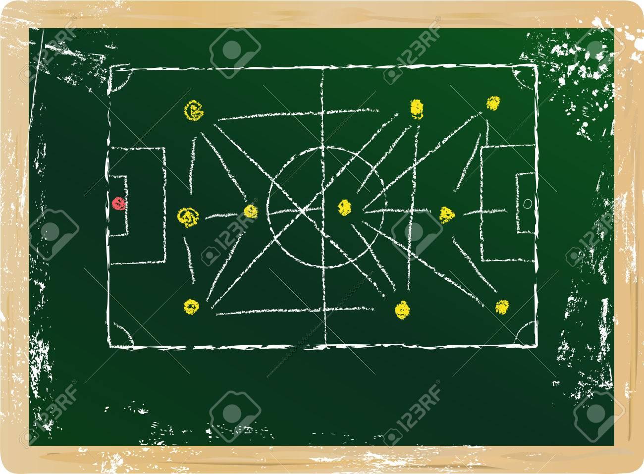 Soccer Football Tactics Diagram Vector Free Copy Space Kliparty