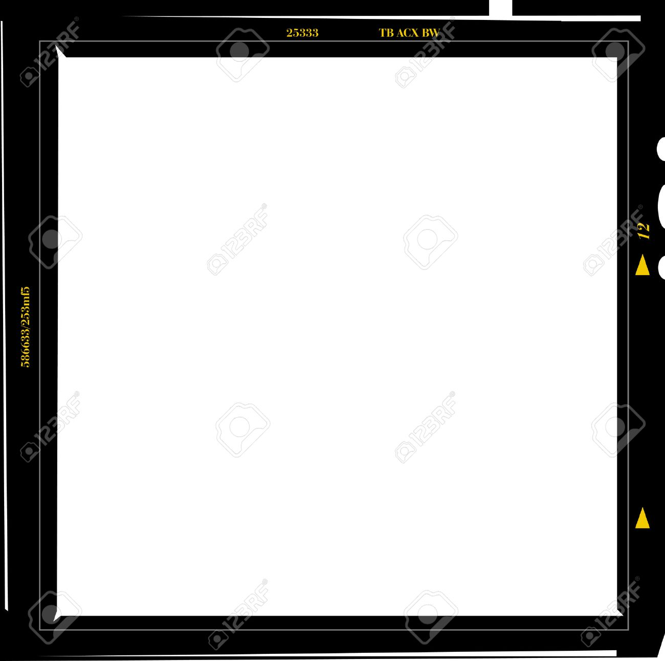 Medium Format Negative Photo Frame, Free Copy Space, Isolated ...