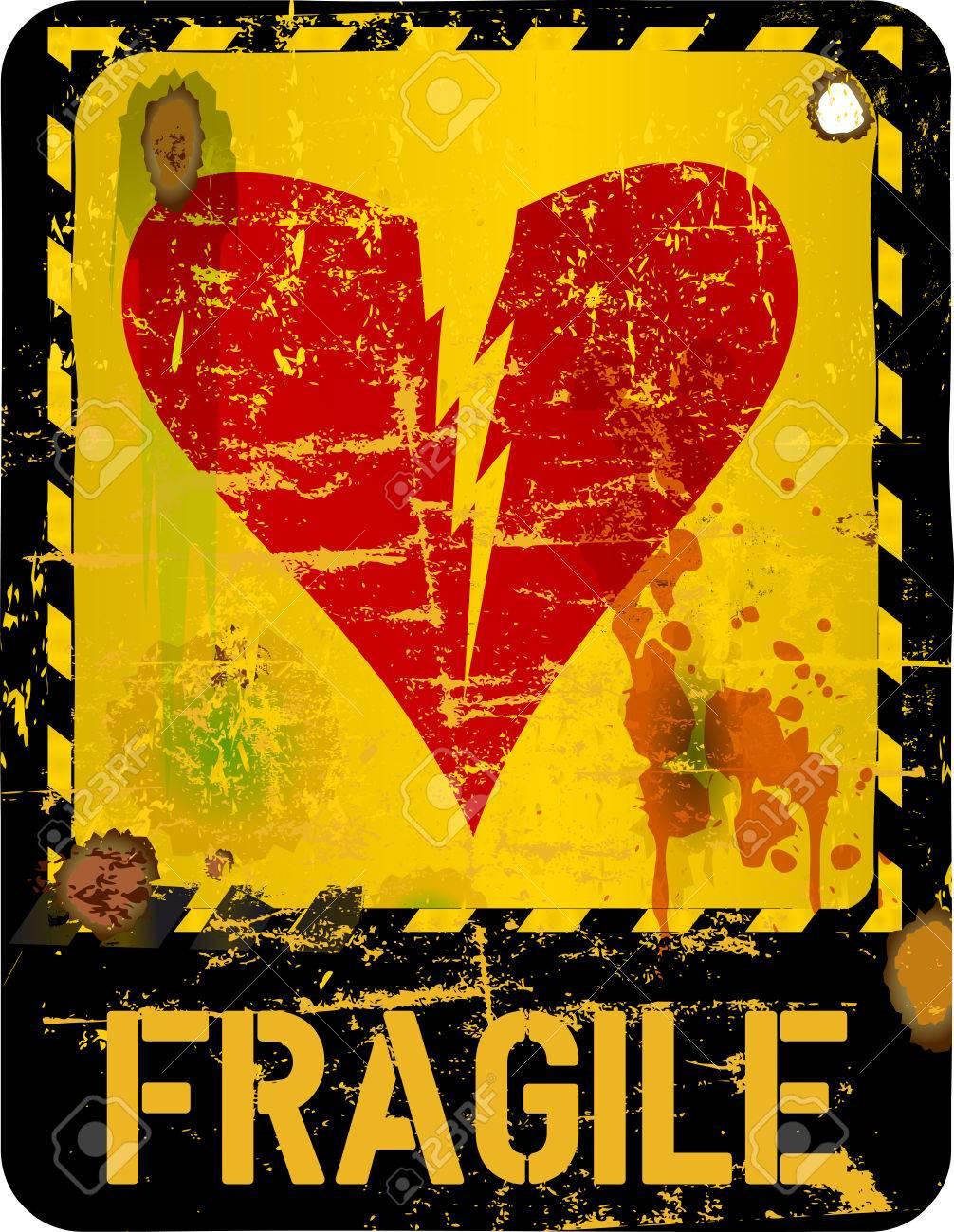 warning sign, heartbreak, love concept - 28438344