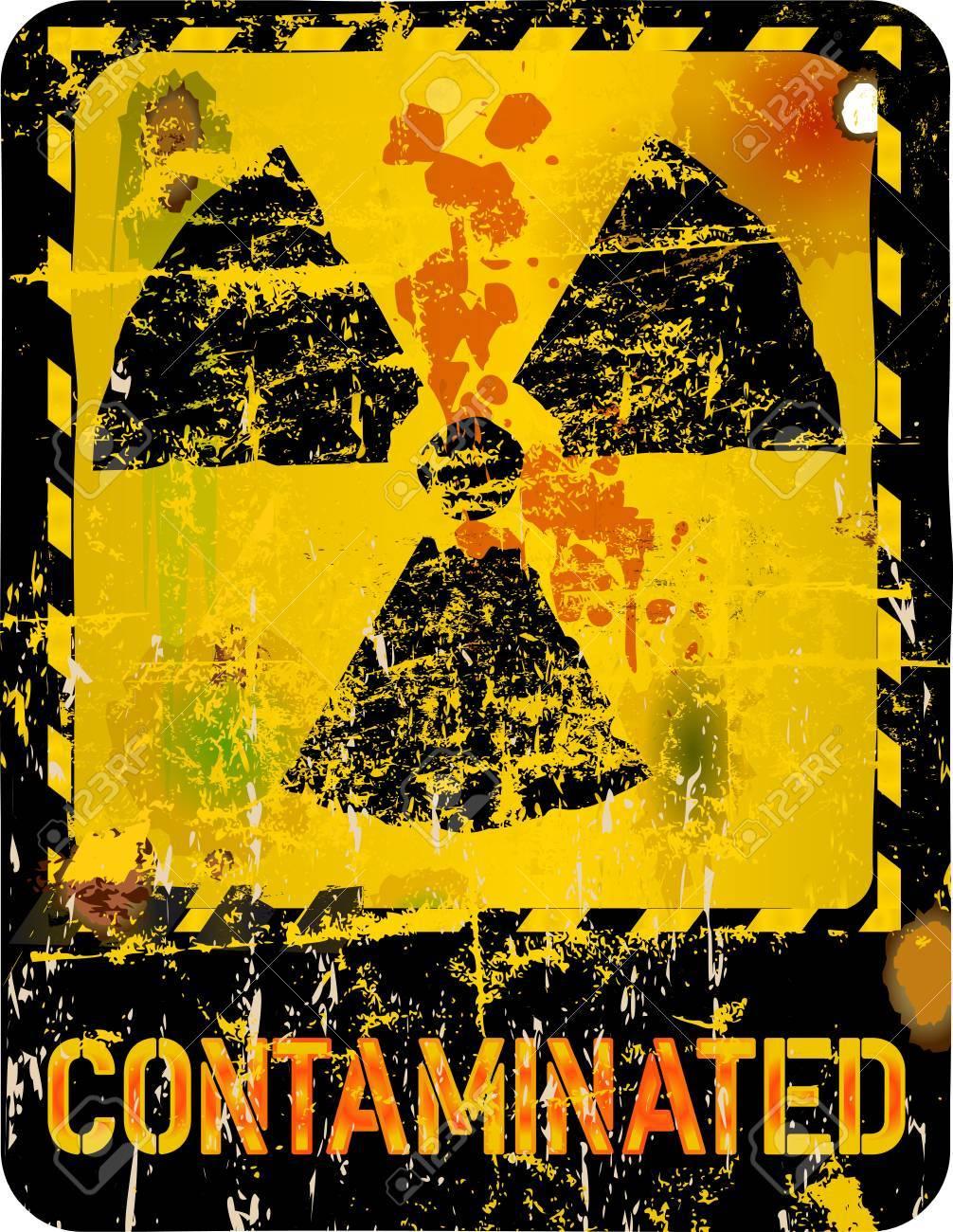 Radiation warning, vector illustration - 29086003