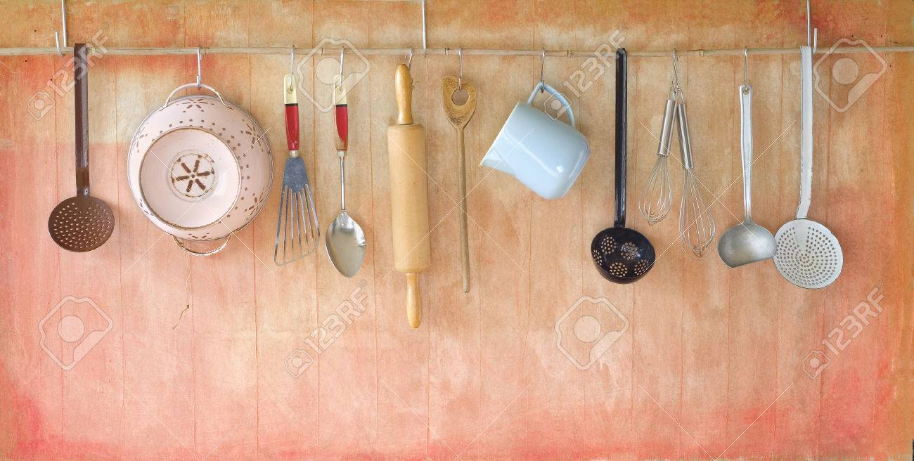 vintage rustic cooking tools cooking concept free copy space - 39527863