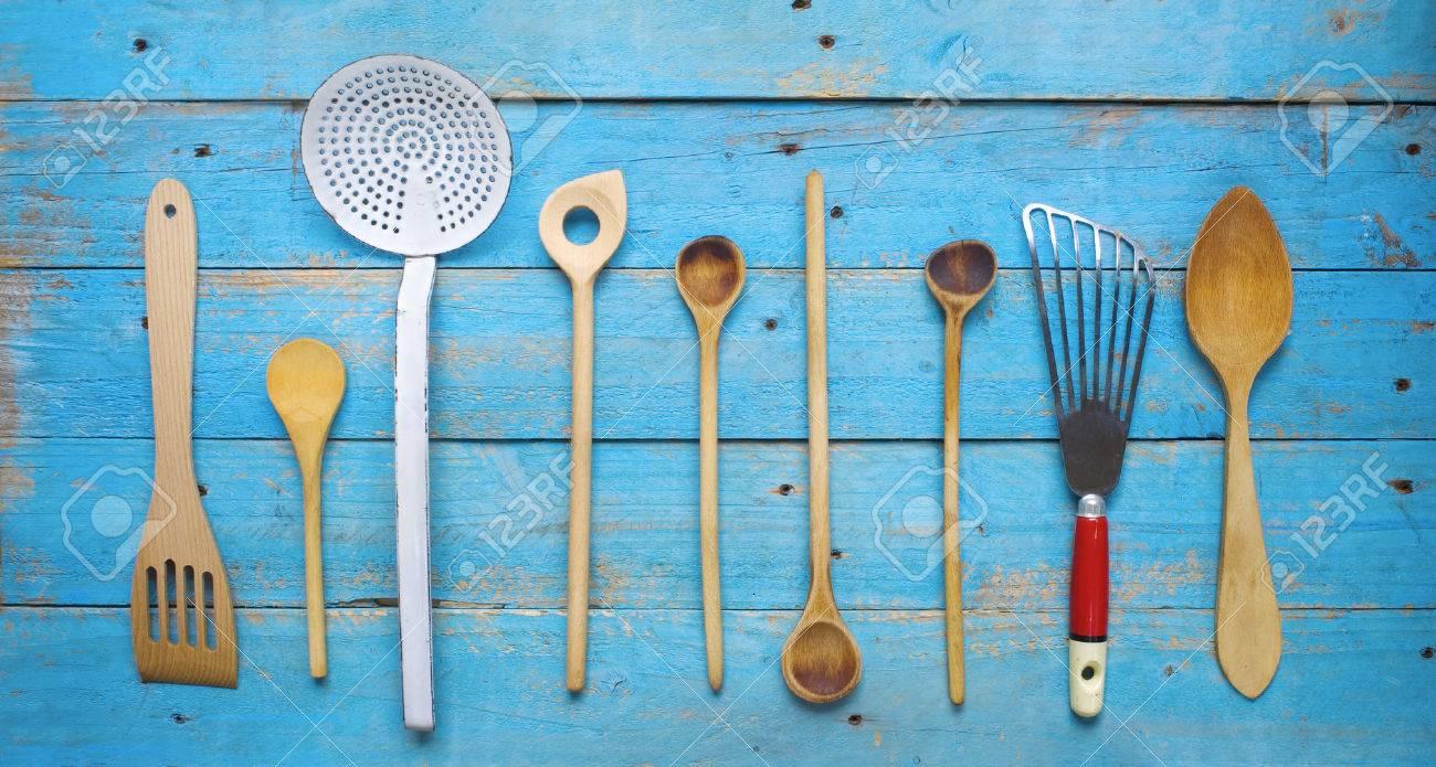 Rustikale Alte Küchenutensilien Lizenzfreie Fotos, Bilder Und Stock ...