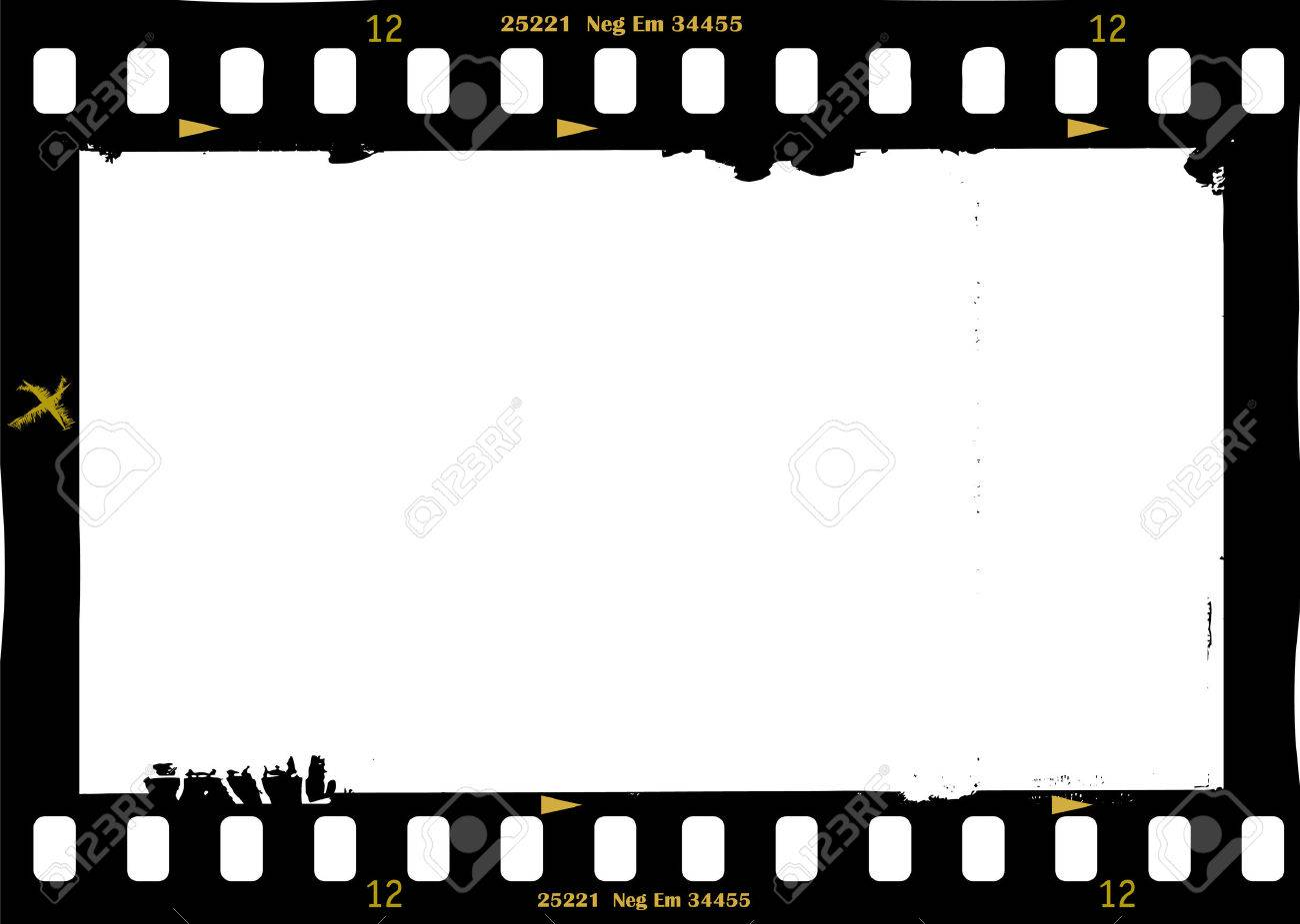 frame of film, grungy photo frame,with free copy space,vector illustration - 47274695