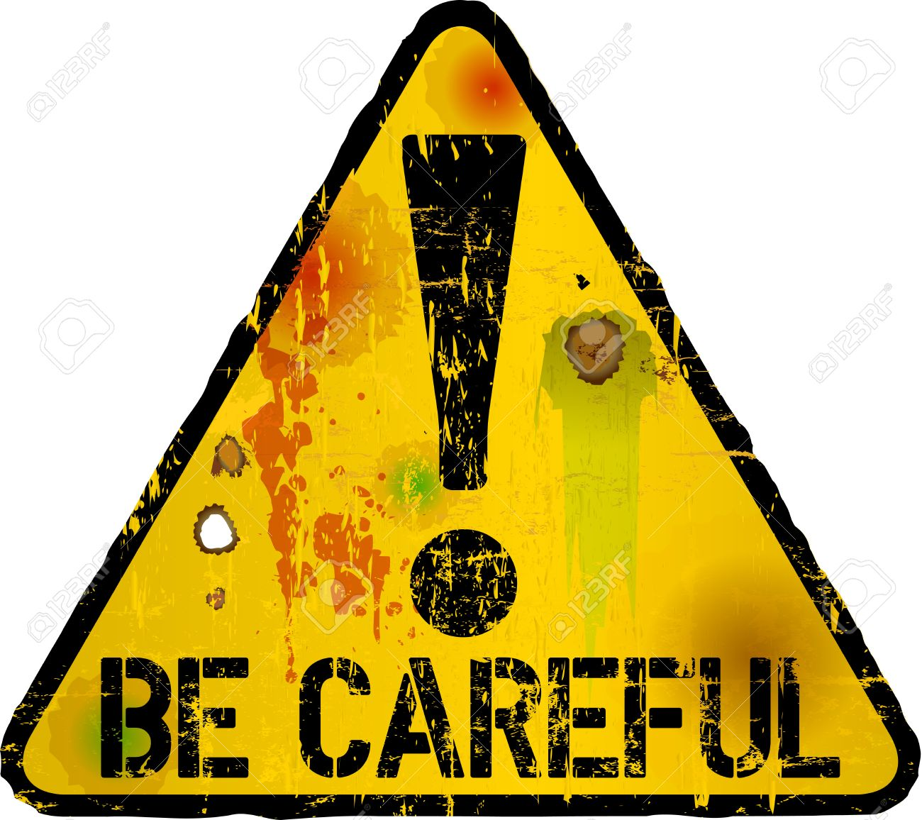 Be Careful Sign, Warning Sign, Vector Illustration Royalty Free Cliparts,  Vectors, And Stock Illustration. Image 65653486.