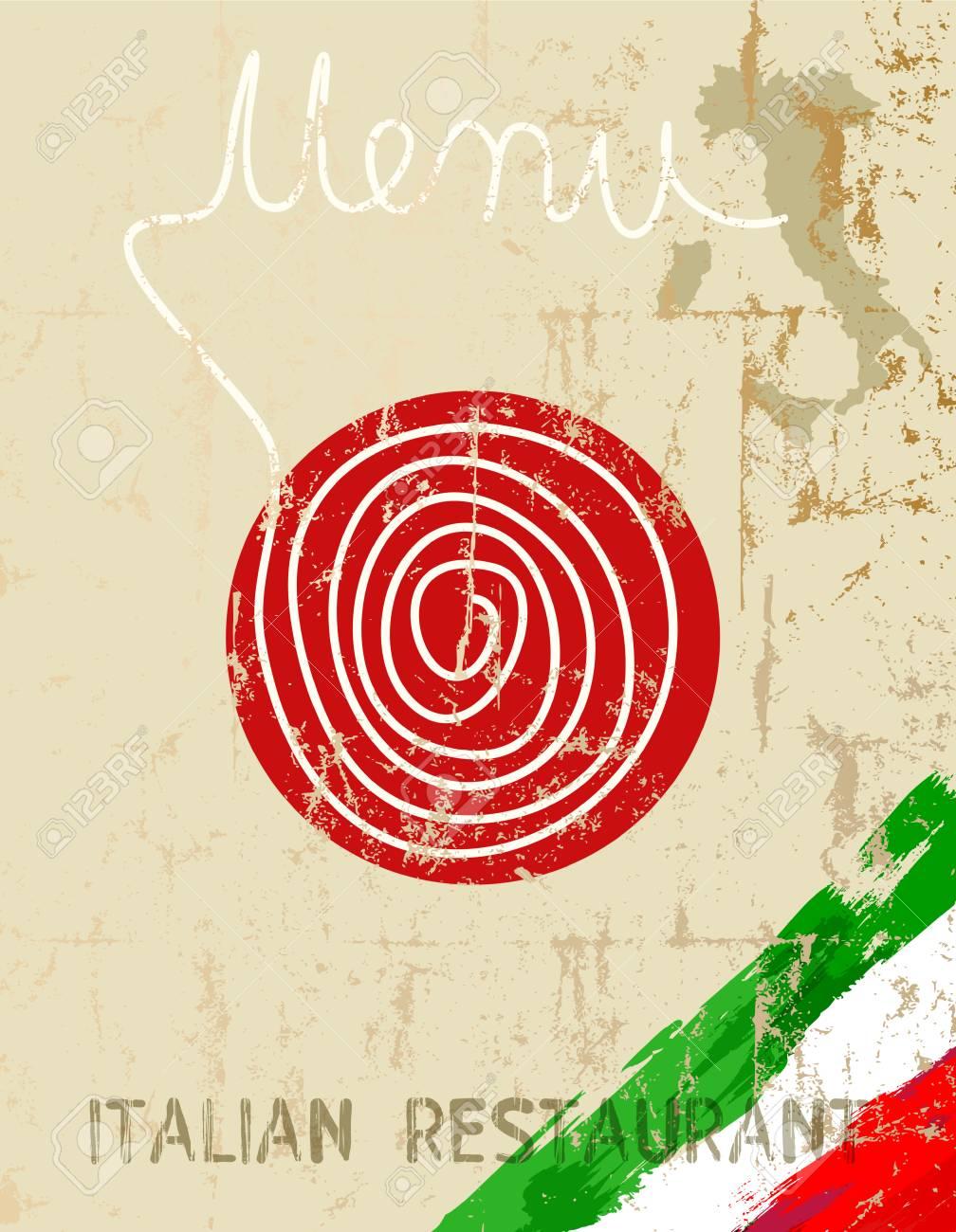 Menú Para Restaurante Italiano, Plantilla De Diseño, Espacio De ...