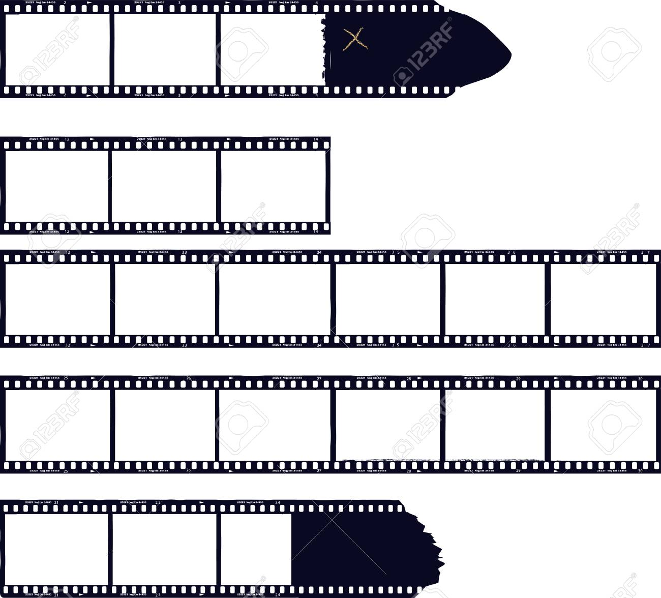 set of film stripes, photo frames, free copy space,vector - 85822500
