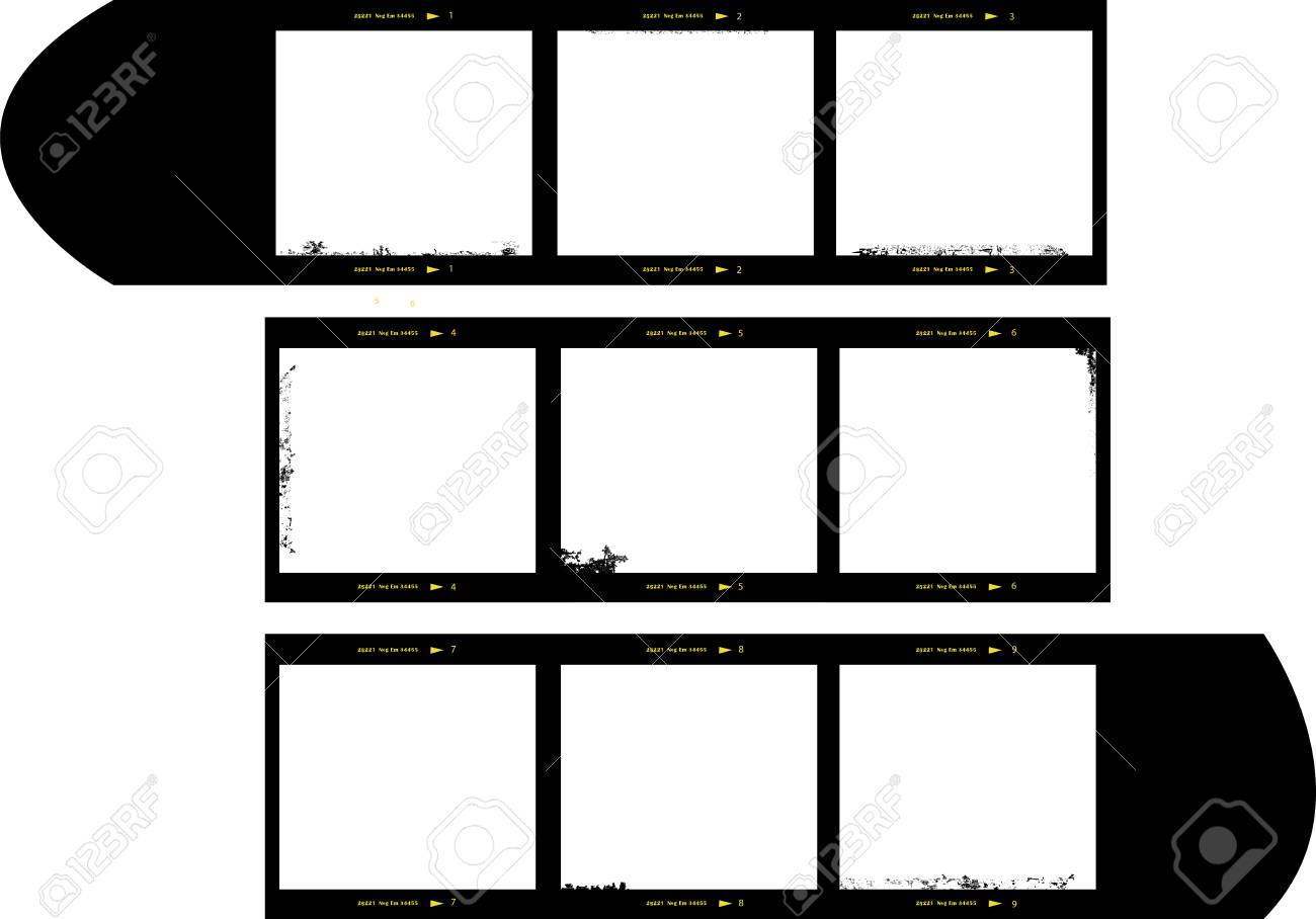 Medium Format Film Strip Picture Frames Royalty Free Cliparts ...