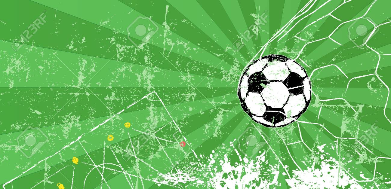 Soccer Football Design Template Or Background Free Copy Space