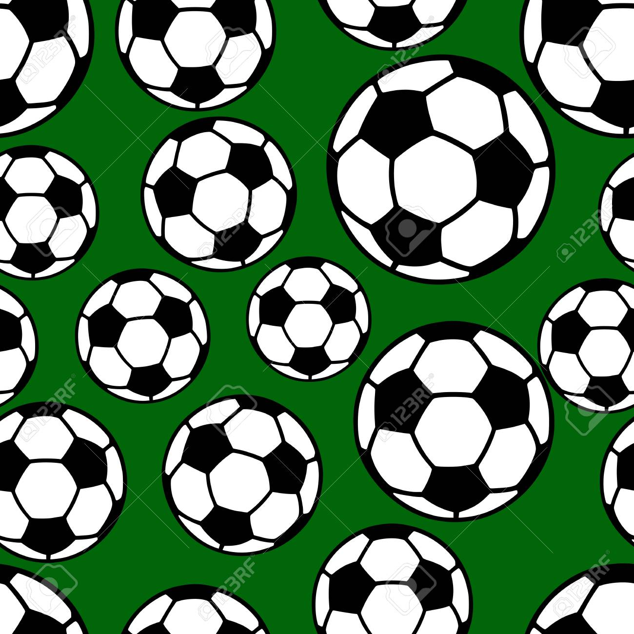 Soccer Ball Seamless Pattern Football Background Flat Style Royalty Free Cliparts Vectors And Stock Illustration Image 100757927