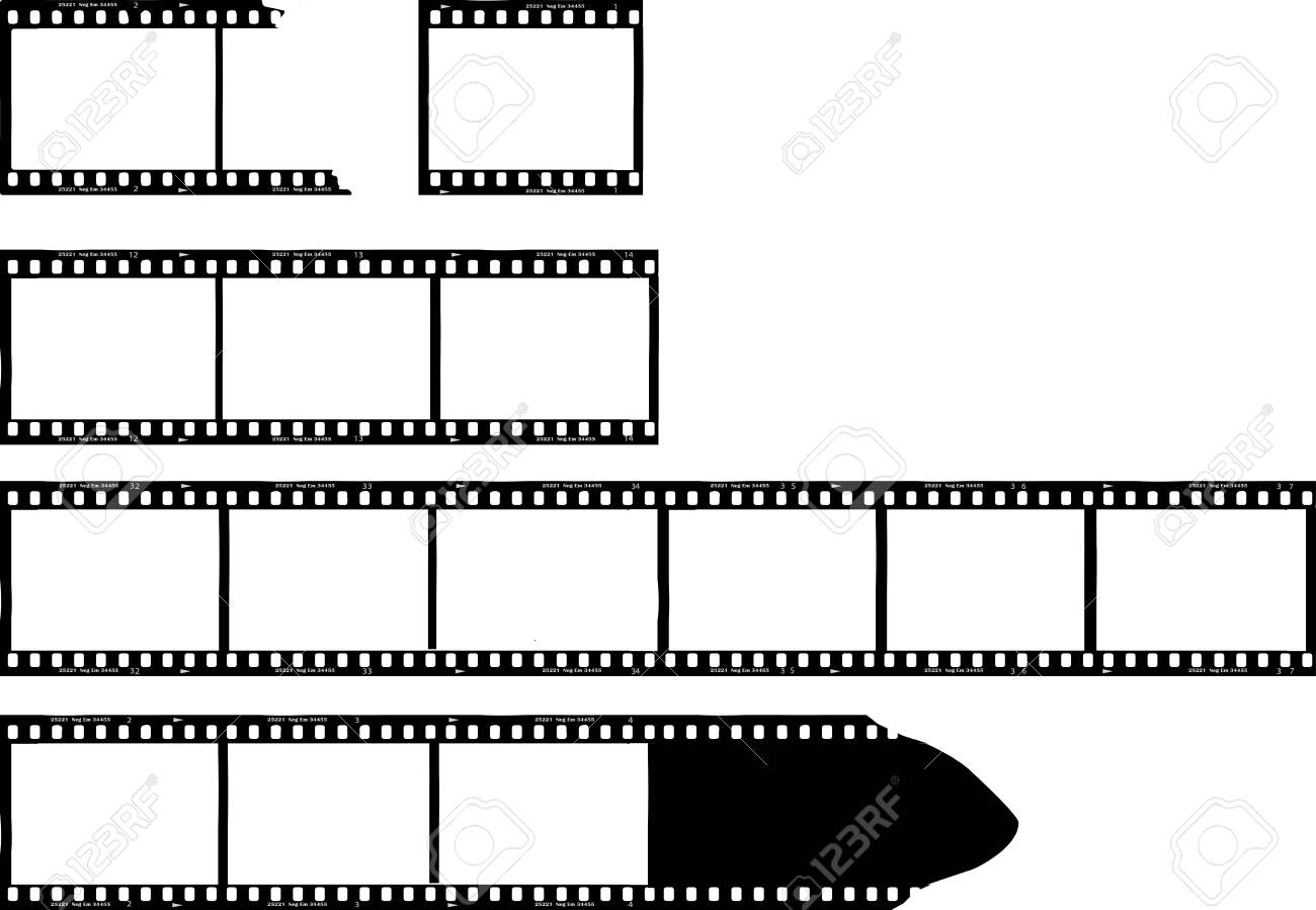 set of grungy photo film frames,filmstrips with free copy space,vector,fictional artwork - 146509737