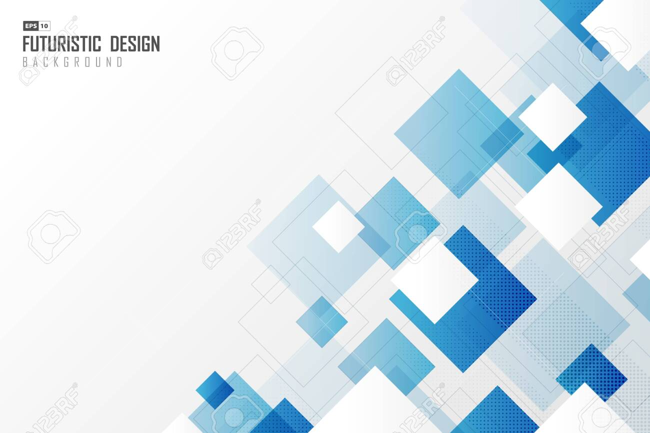 Abstract gradient blur square tech design technology pattern background. - 142712174