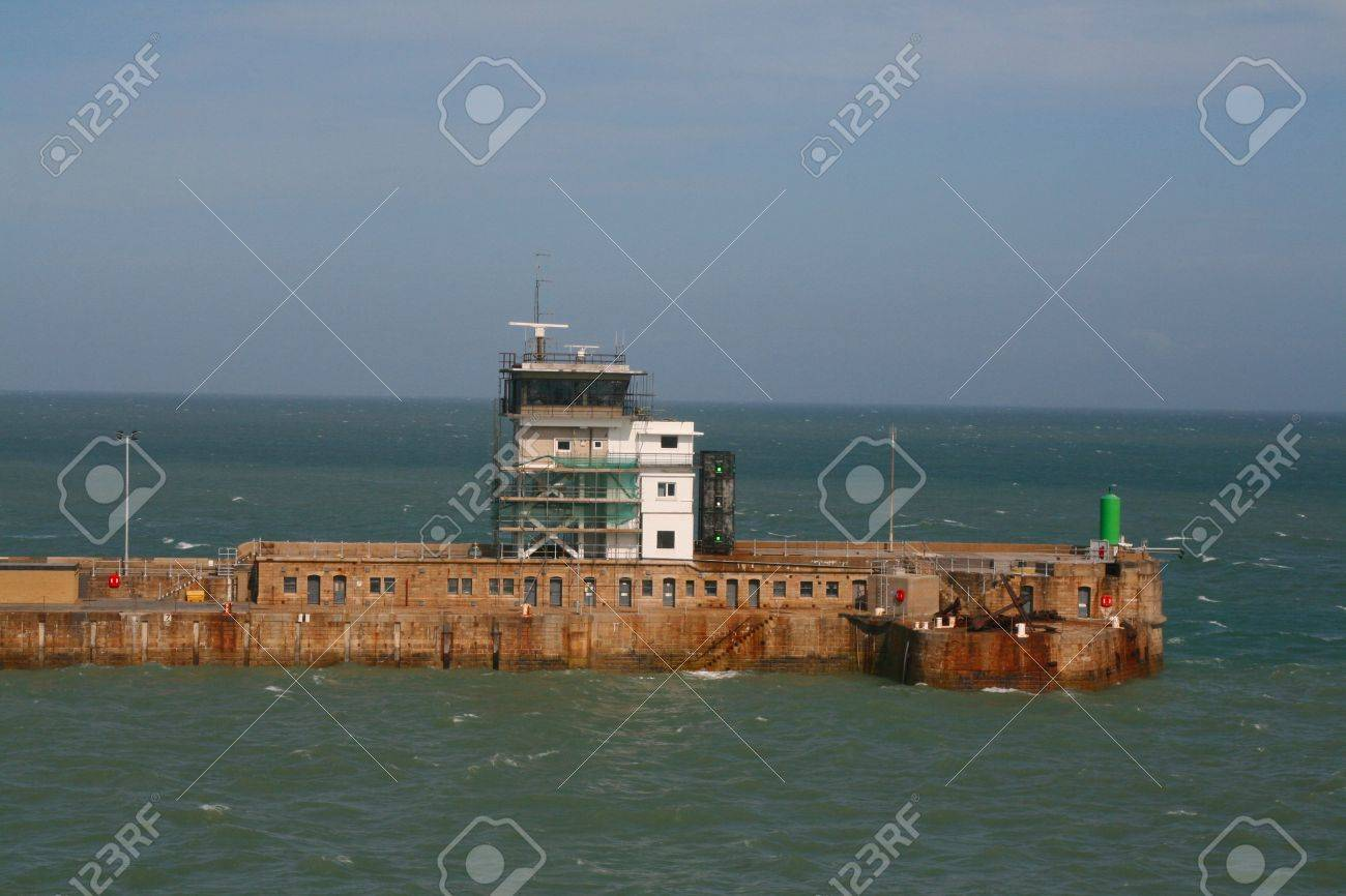 The harbour wall at Dover Stock Photo - 5274078
