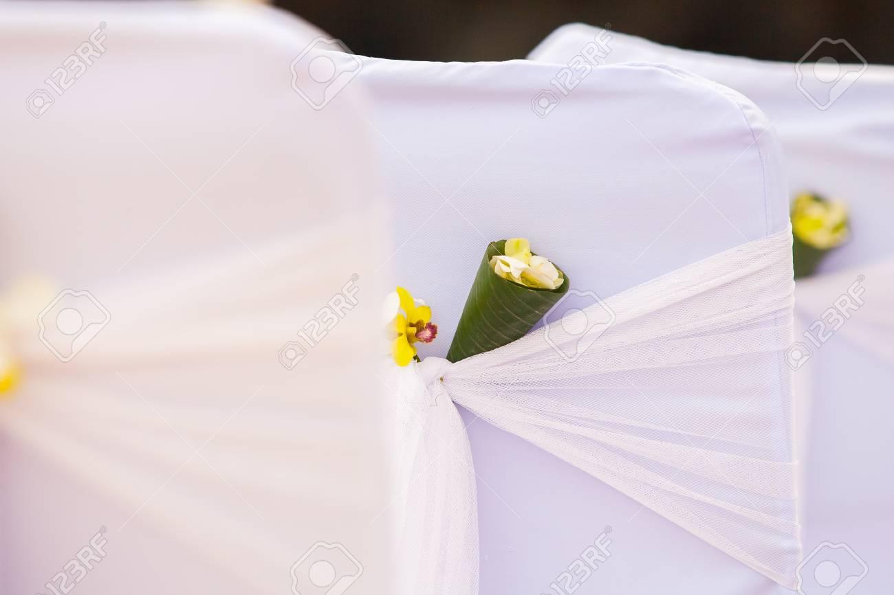 Hochzeit Stuhl Setup Fur Hochzeitszeremonie In Thailand Lizenzfreie